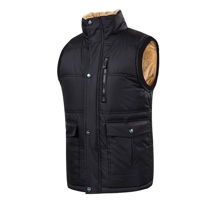 Plus Size 5XL Vest Men Winter Warm Vests Male With Manyeticdress-eticdress