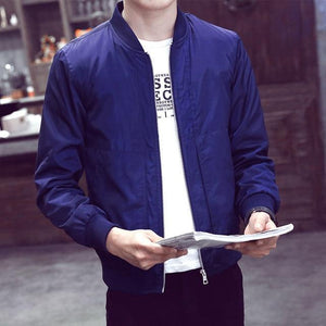 2018 Brand Men'S Jacket Spring And Autumn Thin Men'S Baseball Collareticdress-eticdress