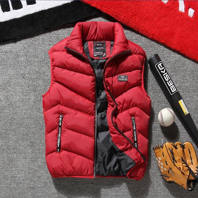 Winter Warm Mens Down Cotton Sleeveless Jacket Vest Fasion Waistcoat Parka L-4XLeticdress-eticdress