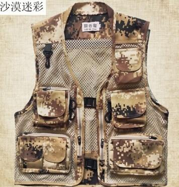 Men casual tactical mesh multi pockets cameras vest mens fashion gilet hommeeticdress-eticdress