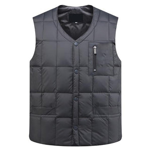 2018 Fashion Men Down Padded Thickening Warm Vest Autumn Winter Sleeveless Jacketeticdress-eticdress