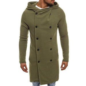 2018 Men's Casual Trench Solid Coat Tailcoat Gothic Frock Coat Hooded Pratyeticdress-eticdress