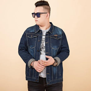 Plus Size 8XL 7XL 6XL Men's Denim Jackets Trend Fashion Cowboy Motorcycleeticdress-eticdress
