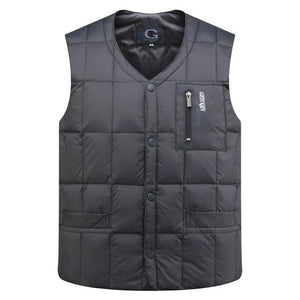 2018 New Mens White Duck Down Vest Casual Male Autumn Winter Sleevelesseticdress-eticdress