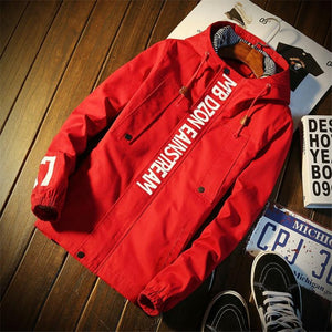 winter Red bomber jacket men thin winter jacket men waterproof meneticdress-eticdress