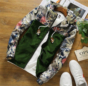 Men Bomber Jacket Thin Slim Long Sleeve Camouflage Military Jackets Hooded 2018eticdress-eticdress