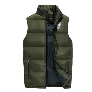 Fashion Men Cotton Vest Autumn and Winter Thickening Warm Vesst Men Windproofeticdress-eticdress