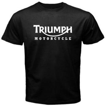 New Men's T Shirt TRIUMPH MOTORCYCLE Classic Logo Race Black Basic Teeeticdress-eticdress