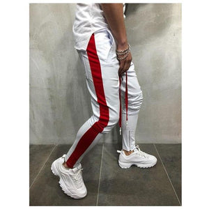 2018 Brand New Men's Side Striped Ankle Zipper Pants Sportswear Workout Hipeticdress-eticdress