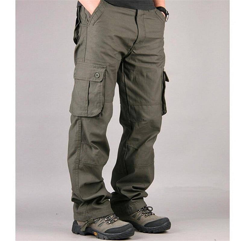 High Quality Men's Cargo Pants Casual Overall Baggy Regular Cotton Trousers Maleeticdress-eticdress