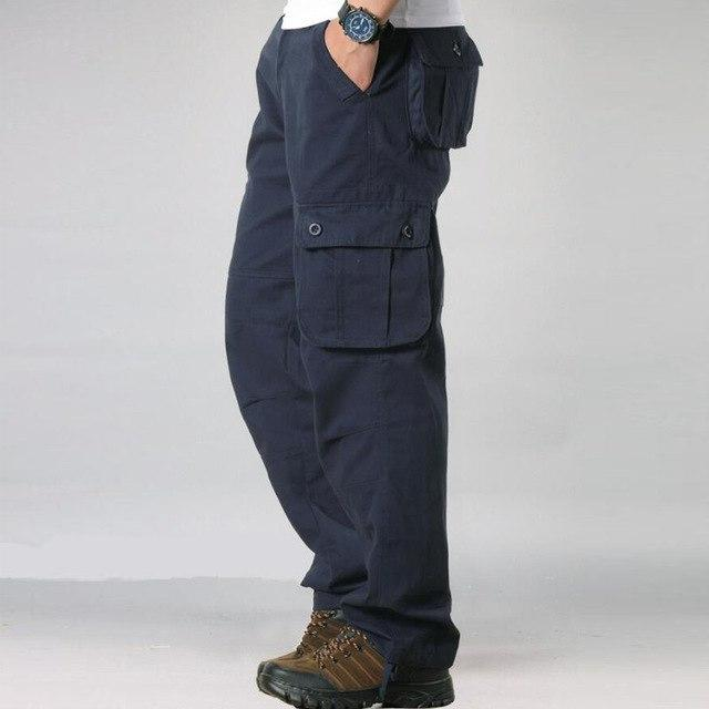 Mens Cargo Pants Men's Casual Multi Pocket Military Overall Men Outdoors Longeticdress-eticdress