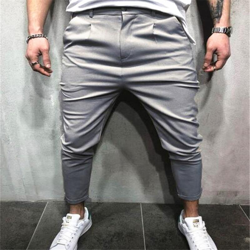 New Arrival Men Vogue Pencil Pants Solid Harem Pants Man Zip Pocketseticdress-eticdress