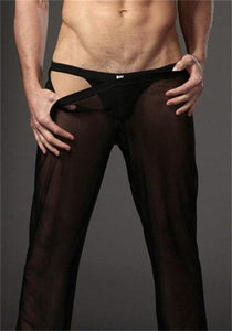 See through Sheer Pants Men's Sexy Transparent Trousers Male Loose Mesheticdress-eticdress