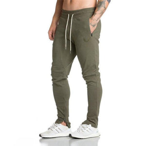 2019 New Gyms Men's Pants Joggers Skinny Sweat Pants Embroidery Tights Sweatpantseticdress-eticdress