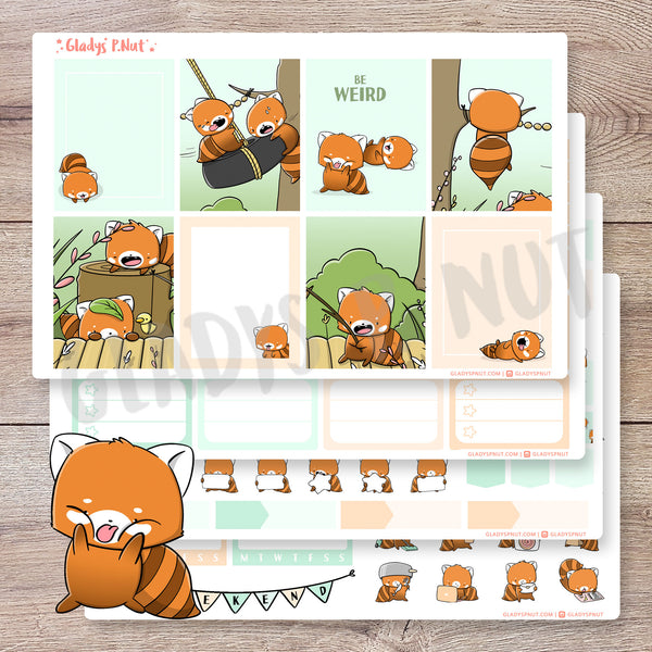 Red Pandas Playground | Planner Kit
