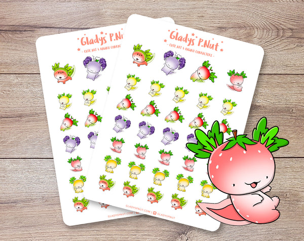 Fruit Axolotls | Sticker Sheet