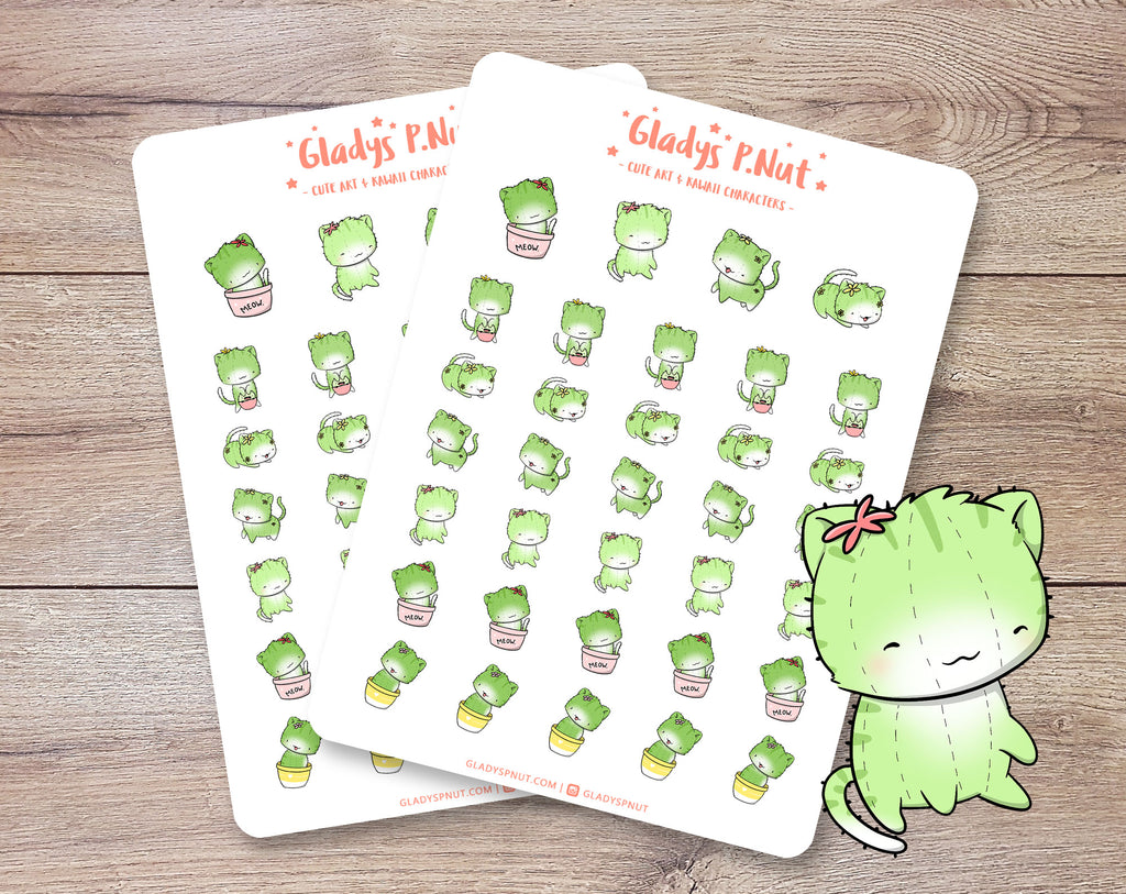 Cat Cactus | Sticker Sheet