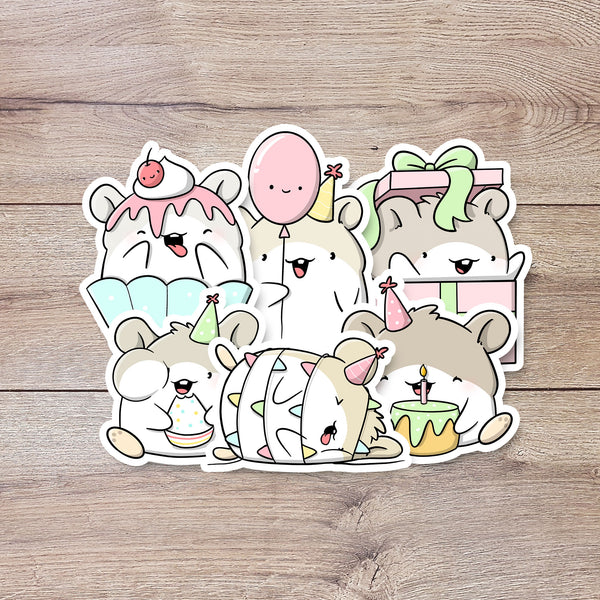 Birthday Hamsters | Stickers