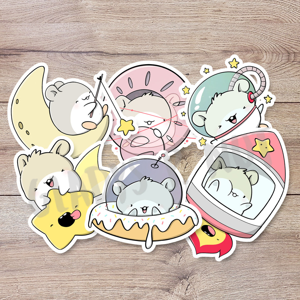 Hamsters in Space | Stickers