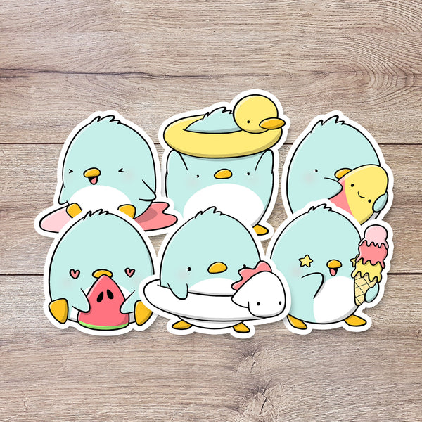 Summer Penguins | Stickers