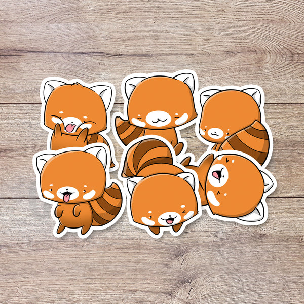 Red Pandas | Stickers - Gladys P. Nut