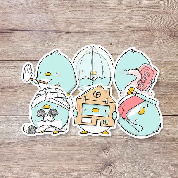 Penguins in Quarantine | Stickers