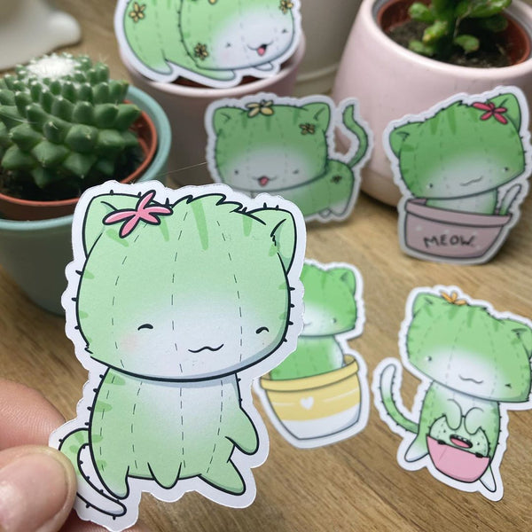 Cactus Cats | Stickers