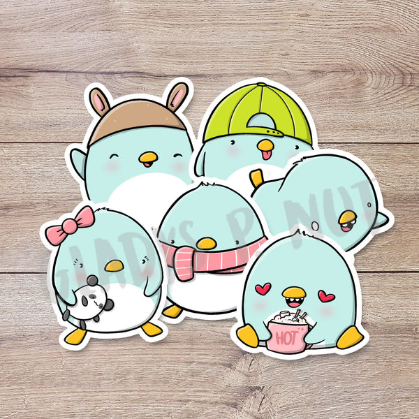 Cute Penguins | Stickers - Gladys P. Nut