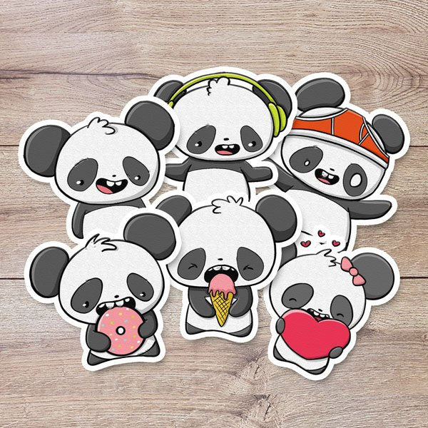 Kawaii Pandas | Stickers - Gladys P. Nut