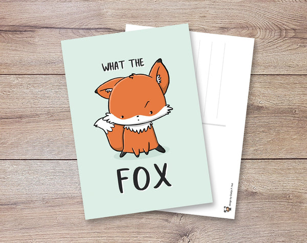 What the fox | Postcard - Gladys P. Nut