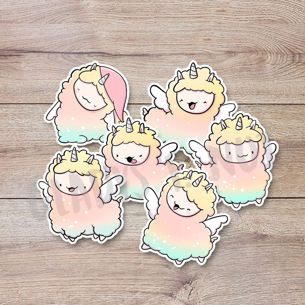 Cute Llamas | Stickers - Gladys P. Nut