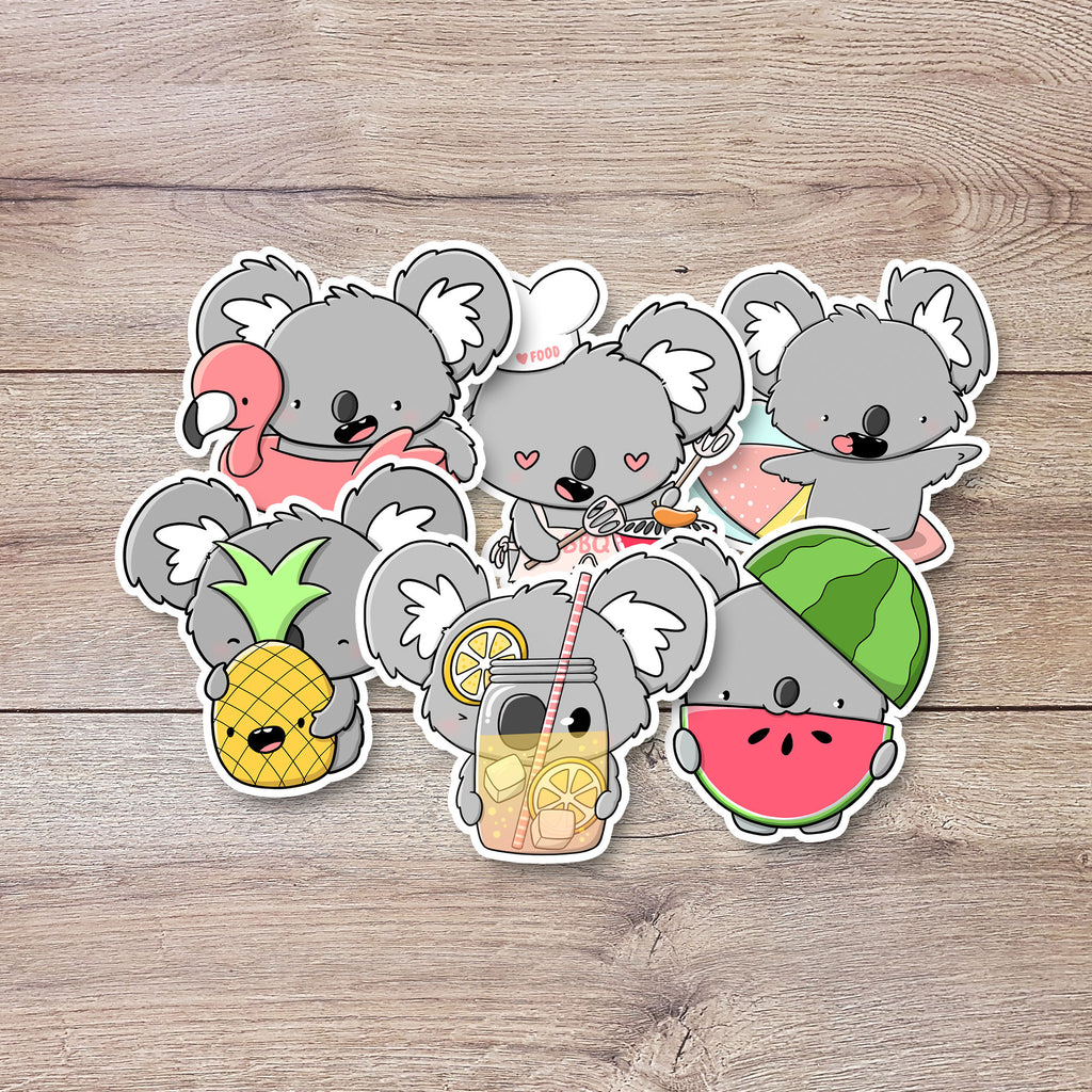 Koalas in Summer | Stickers