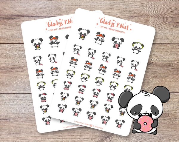 Kawaii Pandas | Sticker Sheet