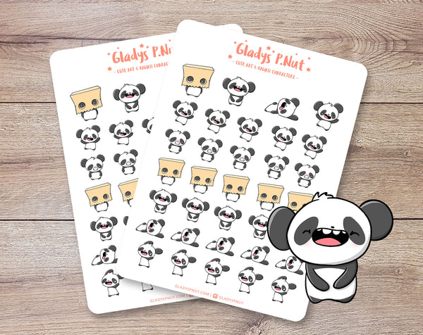 Pandas Emotes | Sticker Sheet