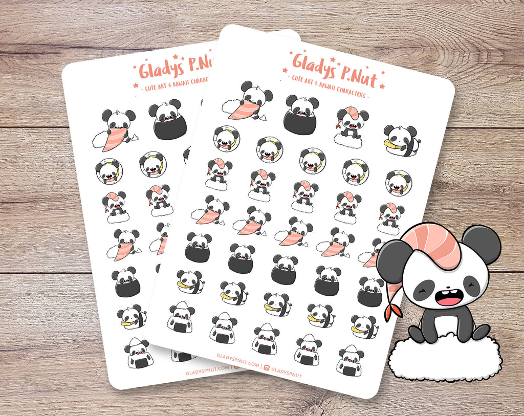 Kawaii Pandas | Sticker Sheets