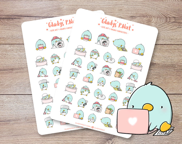 Penguins Daily Tasks | Sticker Sheet
