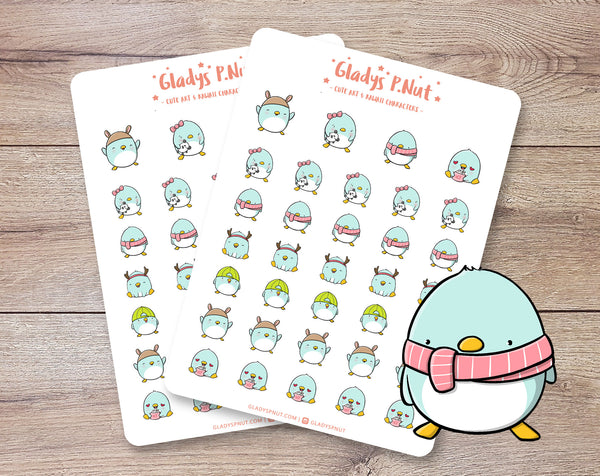 Penguins | Sticker Sheet - Gladys P. Nut