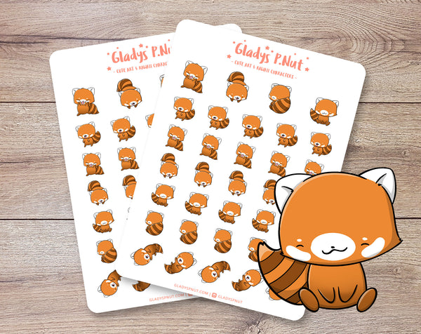 Cute Red Pandas | Sticker Sheets