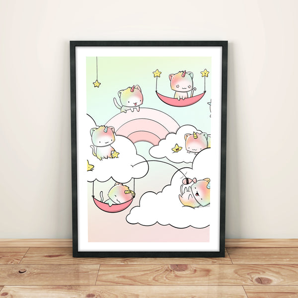 Unikitties in the Cloud | Print