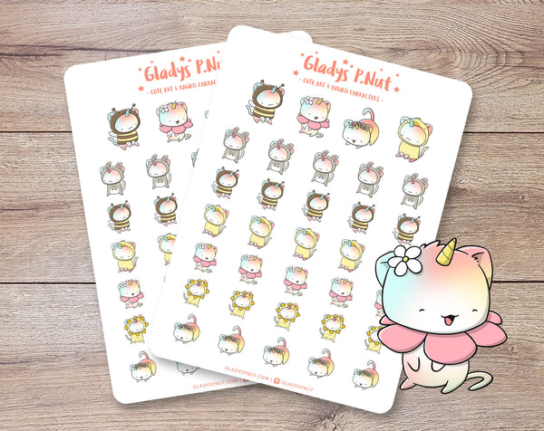 Spring Unikitties  | Sticker Sheet