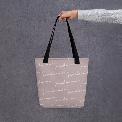 Jindo Mom Script Tote bag