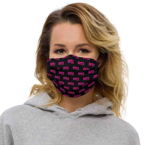 Jindos of LA Logo Face mask - Black and Pink