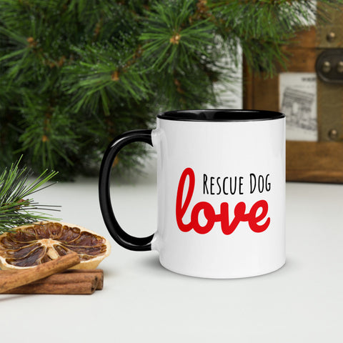 Rescue Dog Love Color Mug