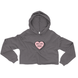 Must Love Jindos Candy Heart Crop Hoodie