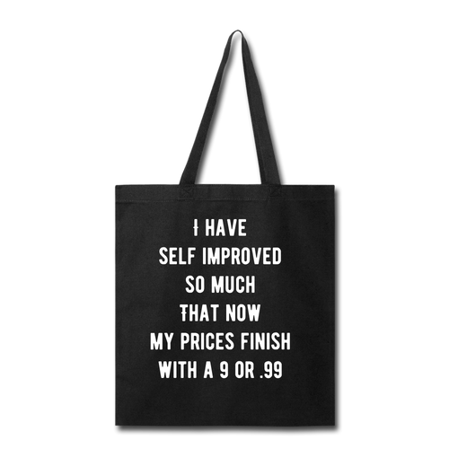 Self improve prices 9 or .99 bag - black