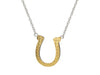 Lucky Golden Horseshoe Pendant Necklace