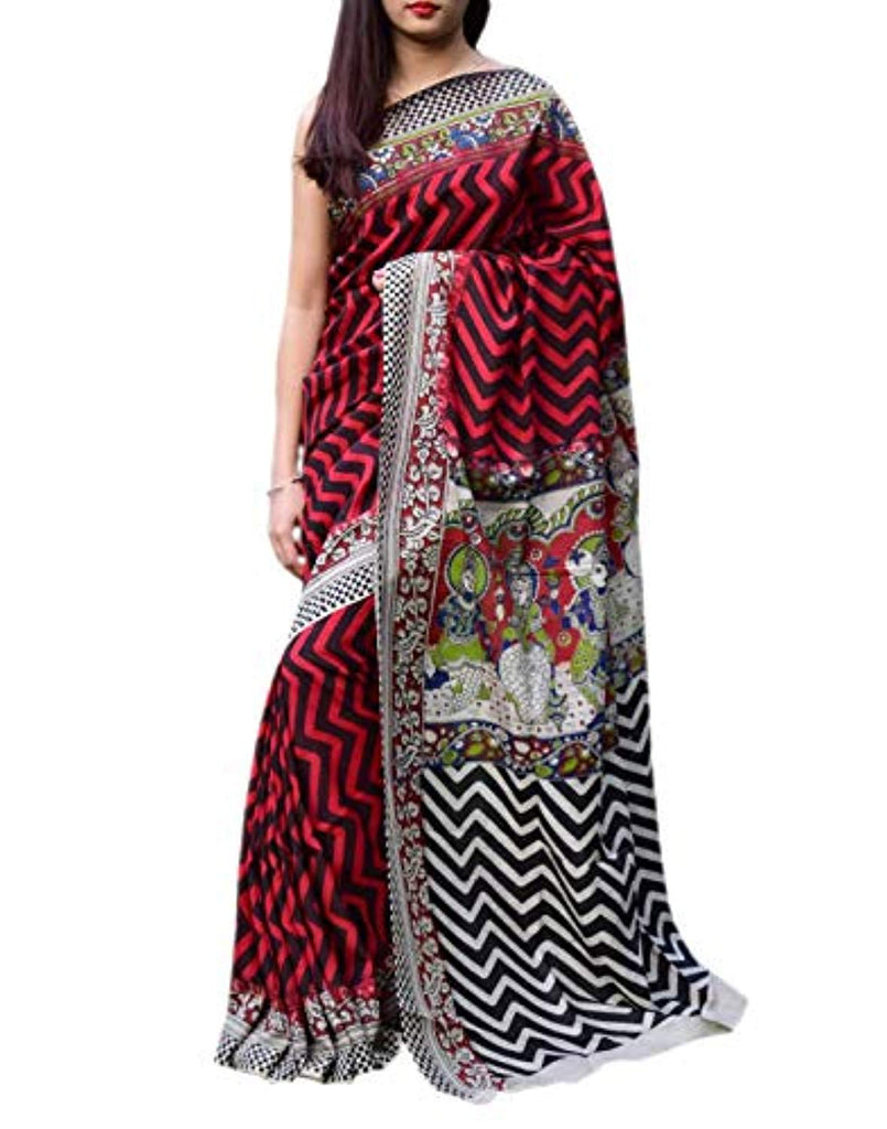 Silk Saree with Authentic Hand Blockprint -Pattern 5
