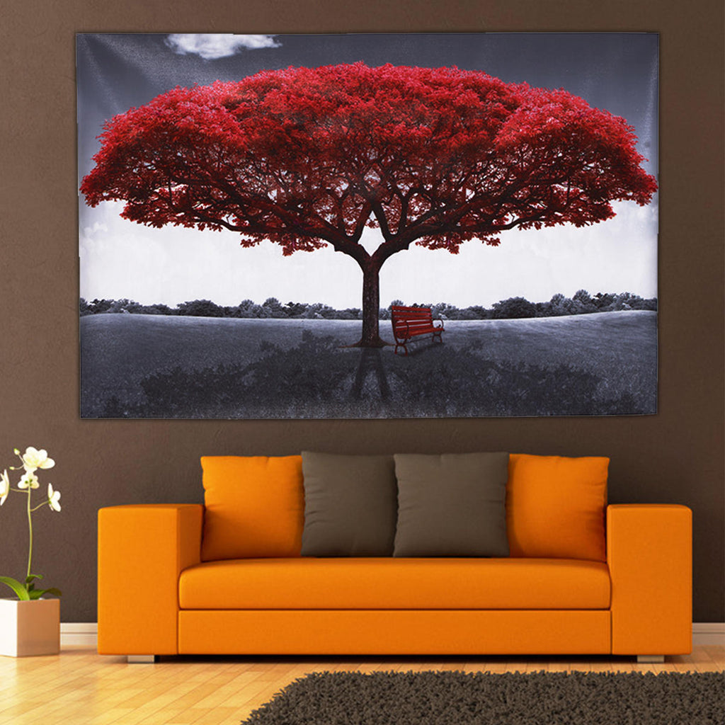 Large Red Tree Canvas Modern Home Wall Decor Art Paintings Picture Print No Frame Home Decorations - L