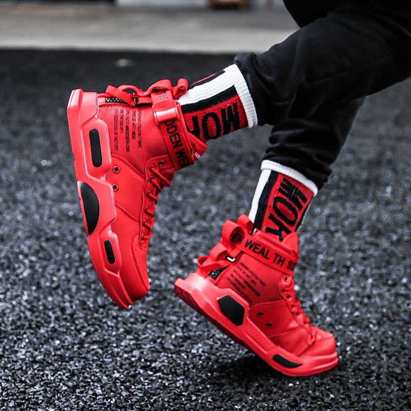 Brand Quality Running Shoes for Men High Top Sports