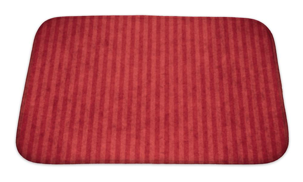 Bath Mat, Red Abstract Paper